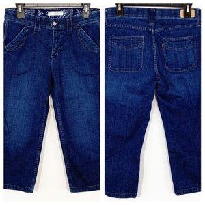 Levi's Dark Blue Denim Capri Jeans Size 8